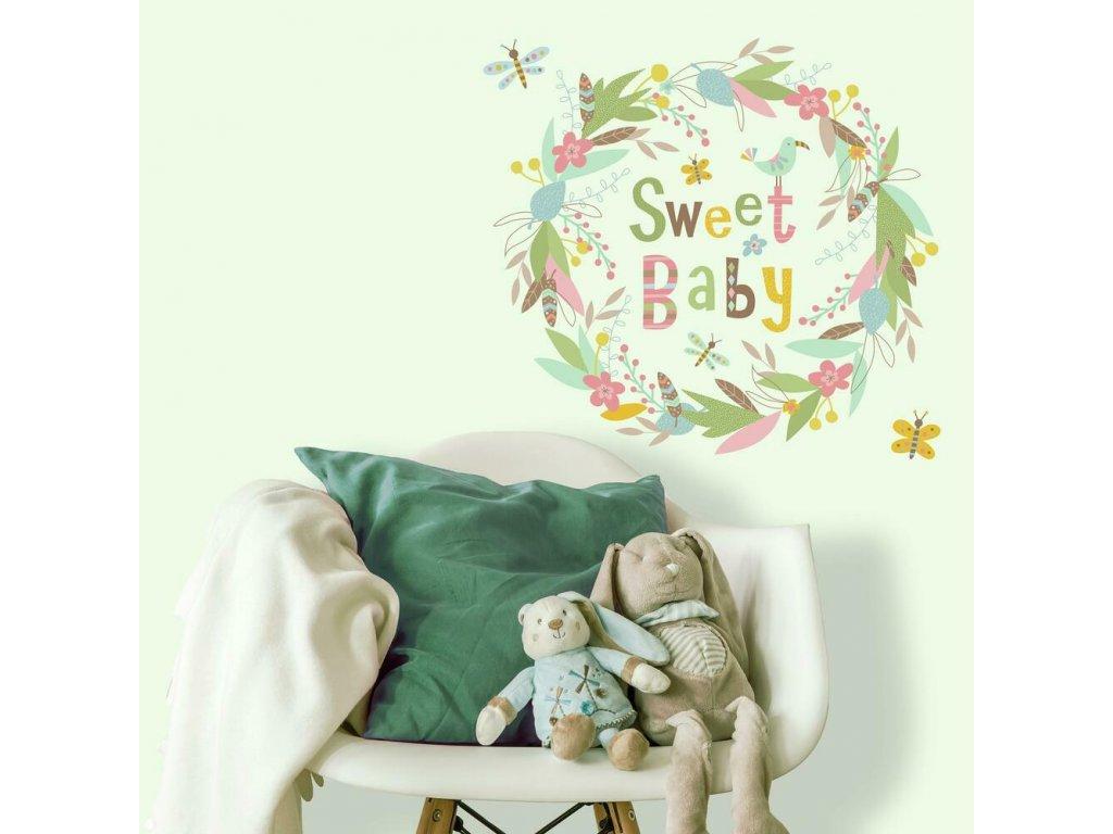 Samolepící nápis do dětského pokoje SWEET BABY