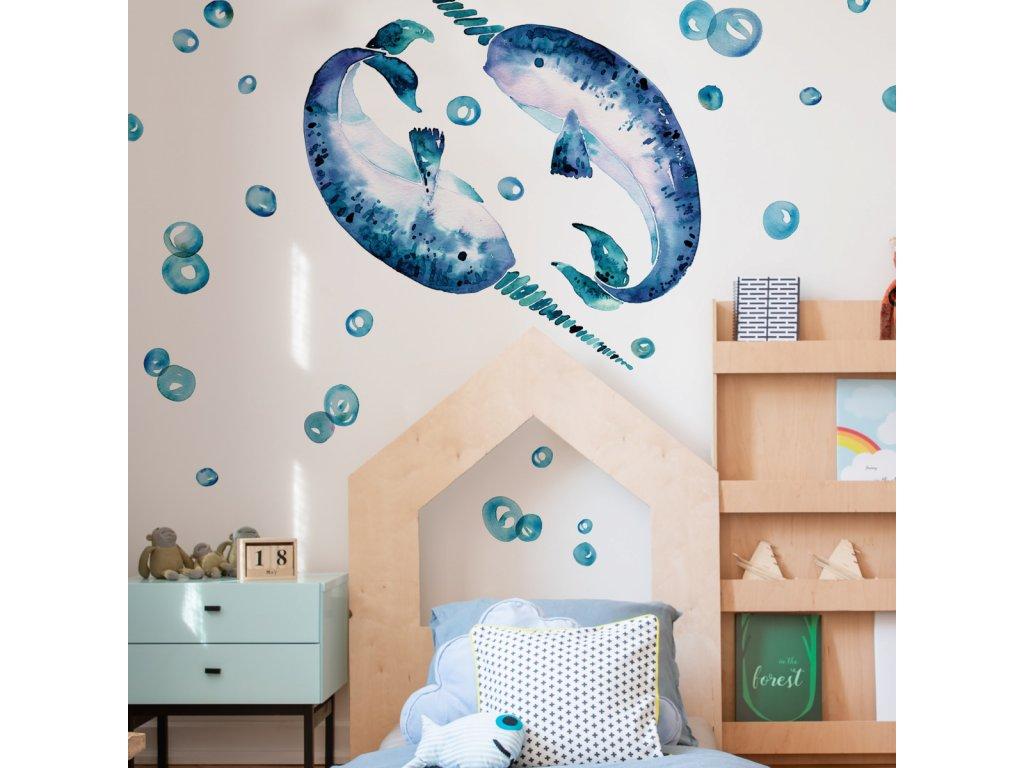 Samolepky na stěnu ryby NARVAL