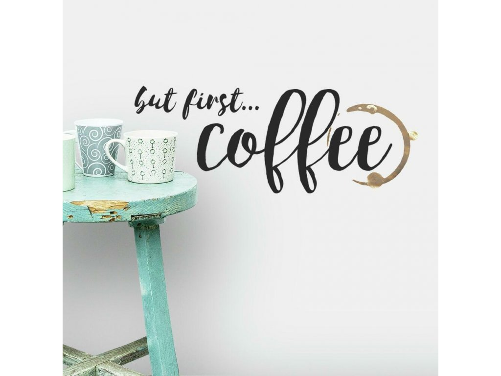 Nalepovací nápis na stěnu COFFEE