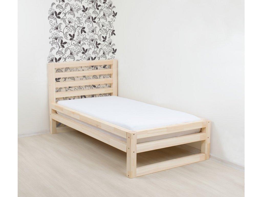 Jednolůžková postel DeLuxe 120x190 cm přírodní