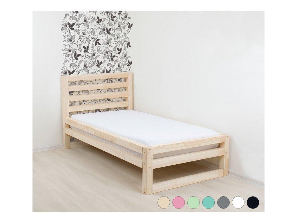 Jednolůžková postel DeLuxe 80x200 cm