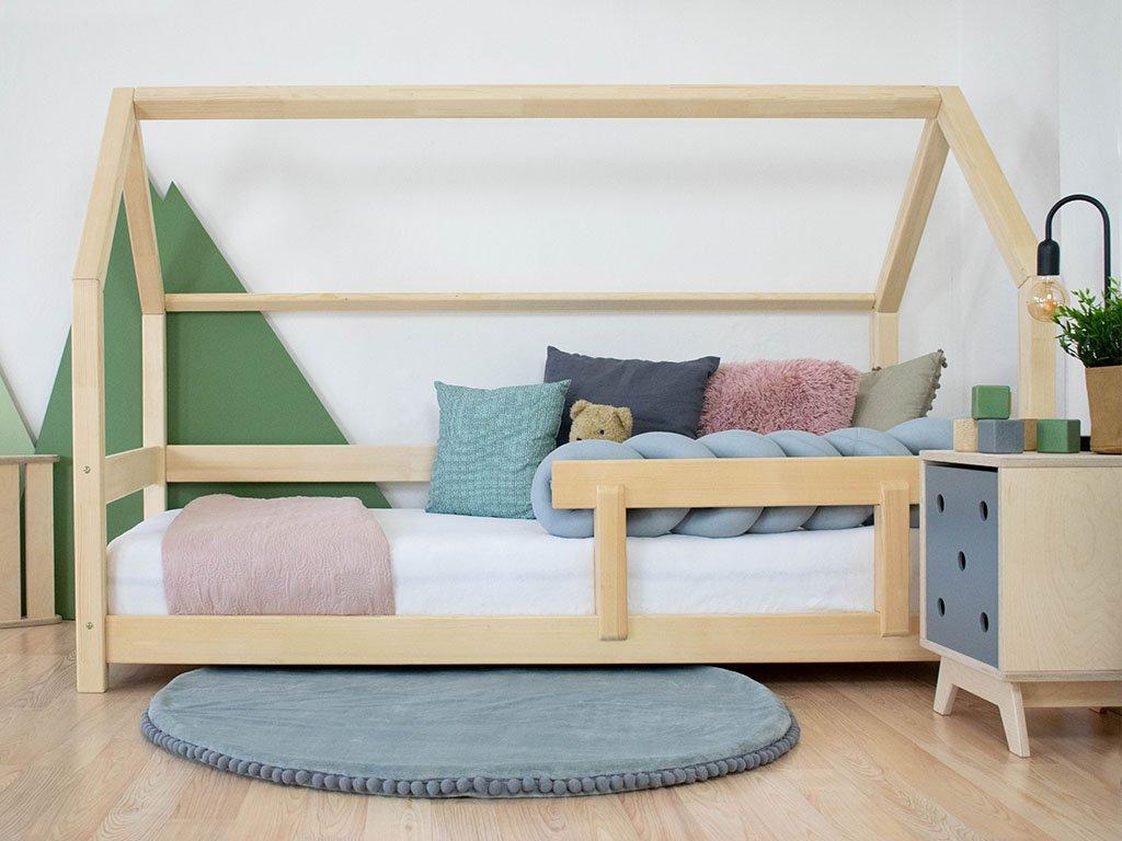 Dětská postel domeček Tery s bočnicí 120x160 cm