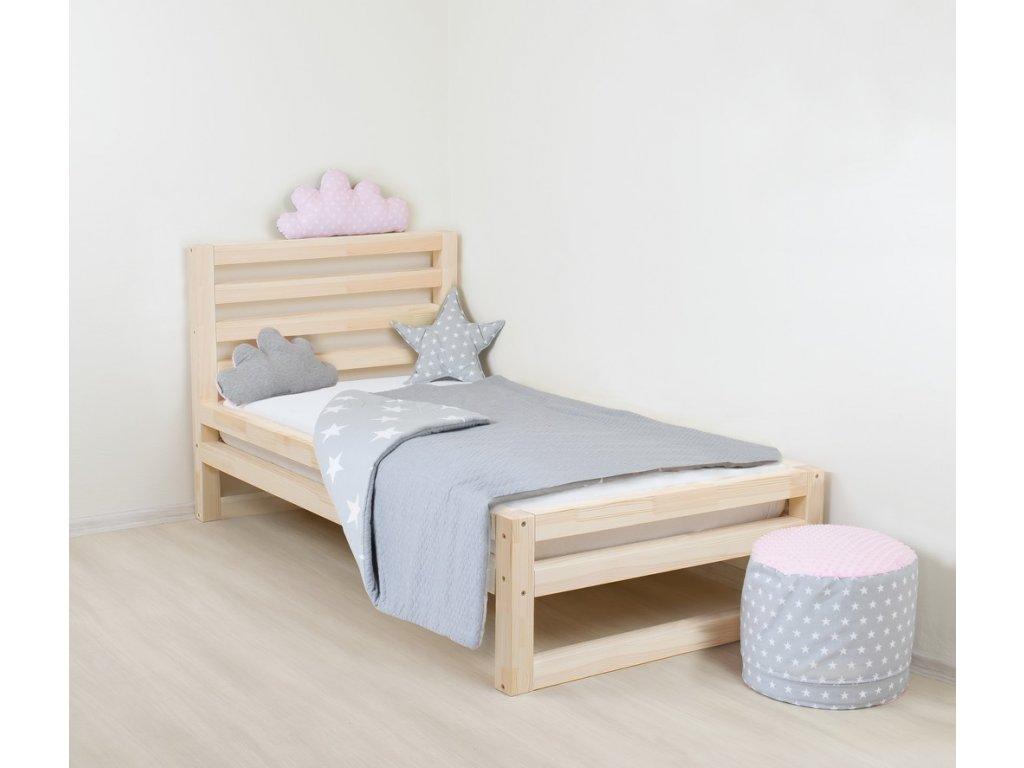 Dětská postel DeLuxe 90x190 cm přírodní