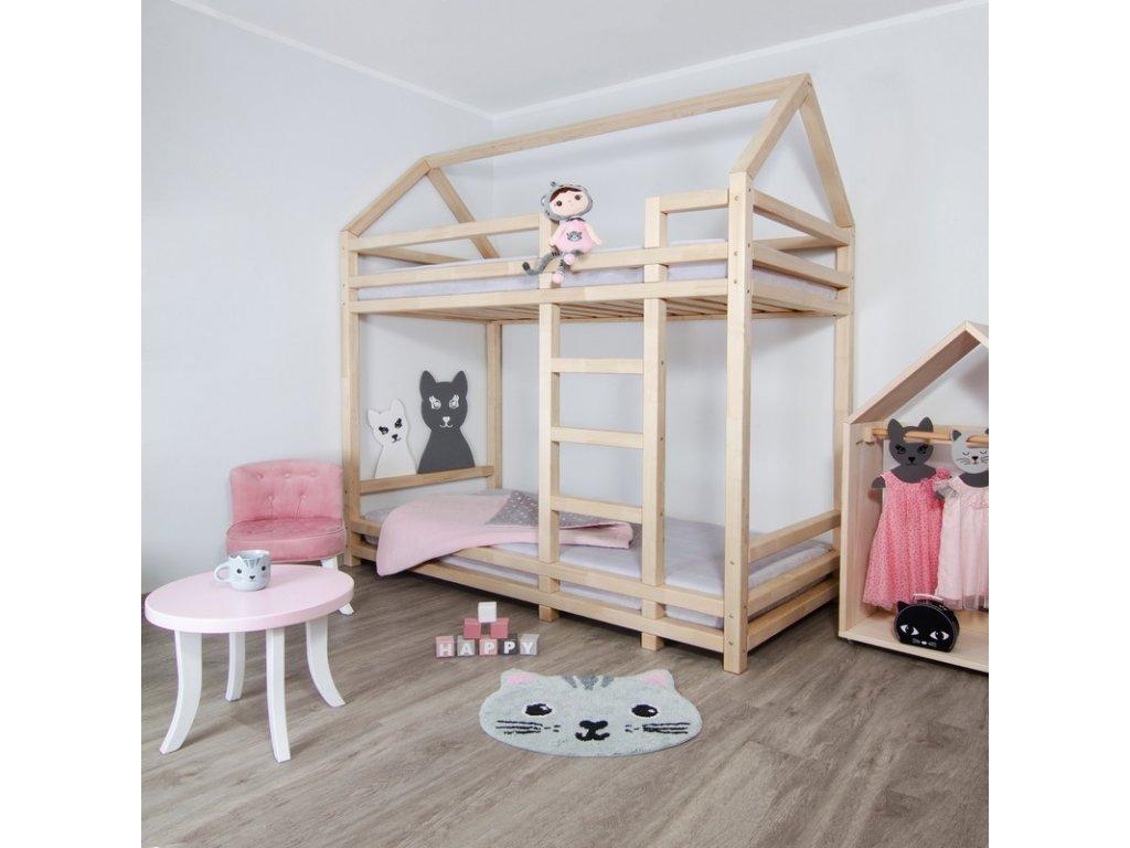 Patrová postel Twiny 90x200 cm přírodní