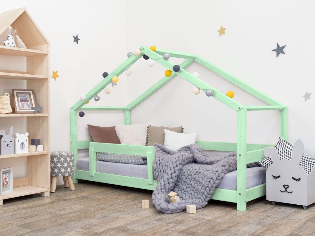 Dětská postel Lucky 90x200 cm s bočnicí  -všechny barvy