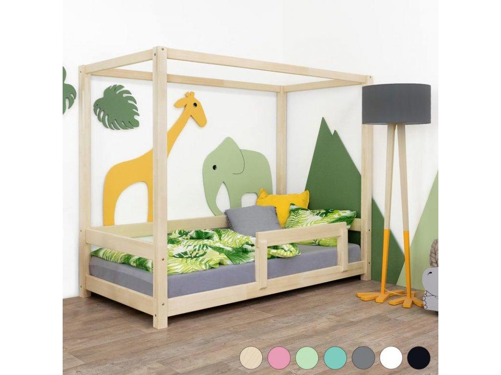Dětská postel Bunky 90x200 cm s bočnicí