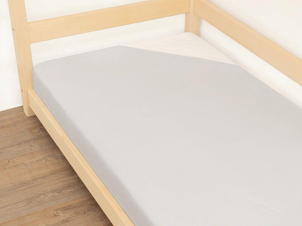 Prostěradlo Jersey 90x180 cm šedé