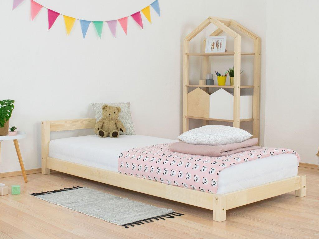 Dětská jednolůžková postel s čelem Dreamy Přírodní