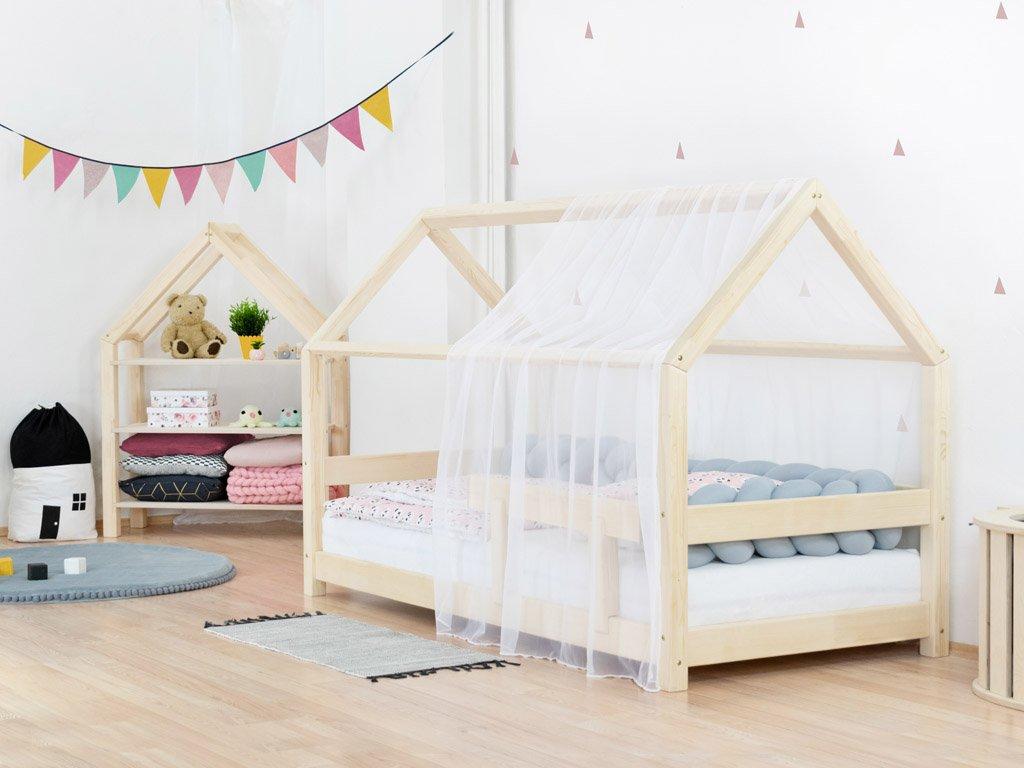 Lehká šifónová stříška na dětskou postel domeček Tery