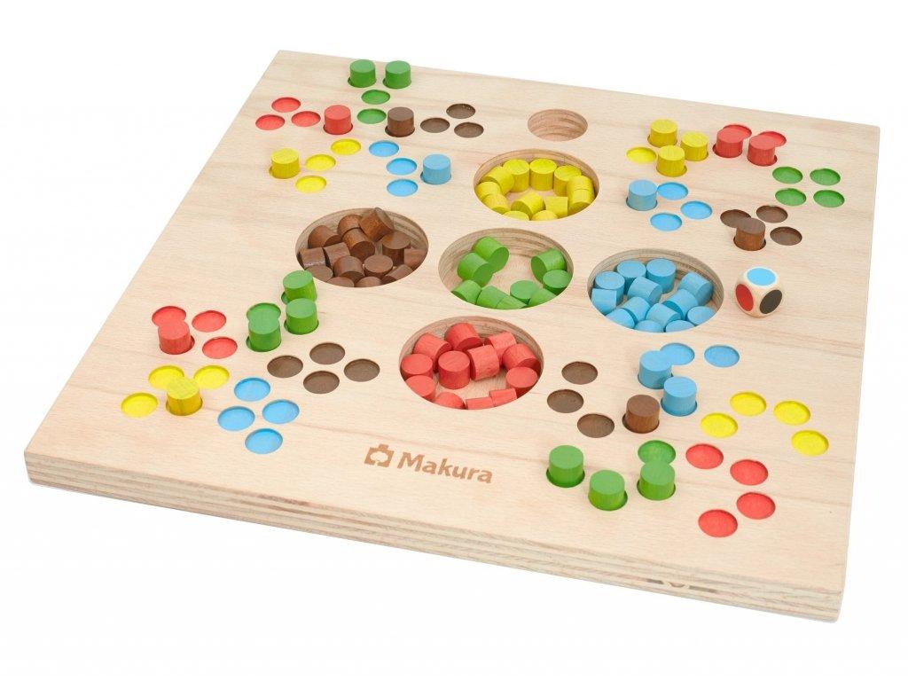 Dřevěná stolní společenská hra VESELÉ PECKY