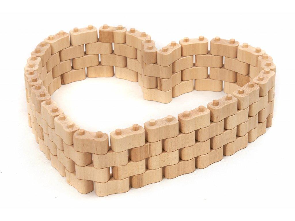 Dřevěná stavebnice GODI ze 96 dílů