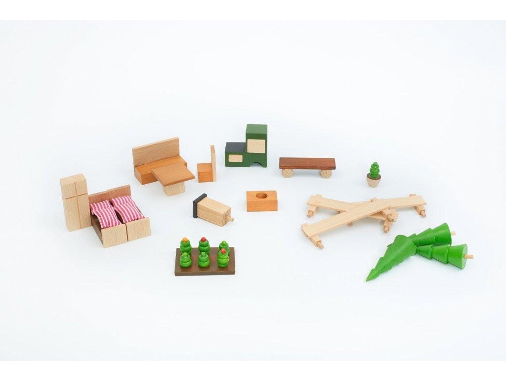Stavebnice BUKO vybavení chaty