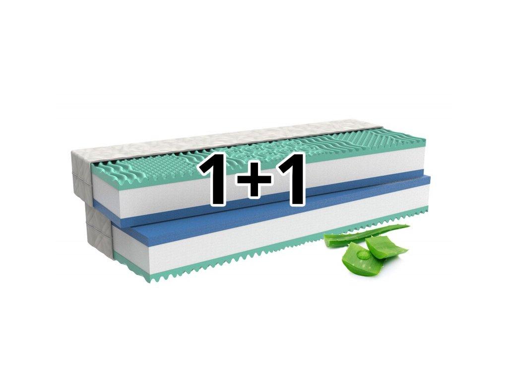 1+1 Ortopedická matrace ALOE COMFORT s paměťovou pěnou s aloe vera