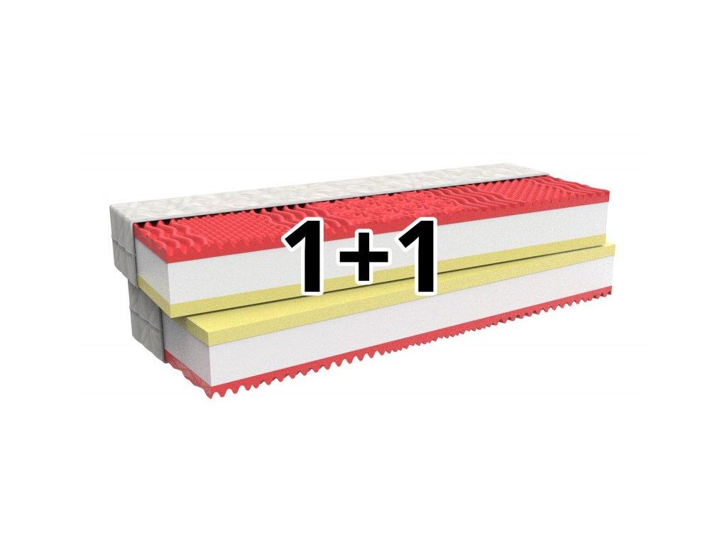 1+1 Ortopedická matrace MEMORY COMFORT s paměťovou pěnou