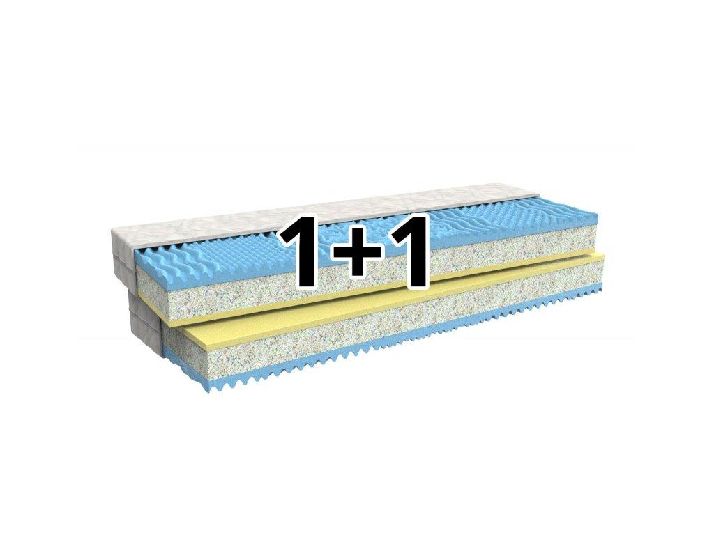 1+1 Pěnová matrace DITA s paměťovou pěnou a pevným středem