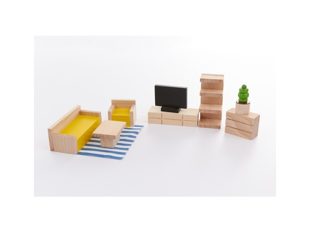 Stavebnice BUKO vybavení obývacího pokoje