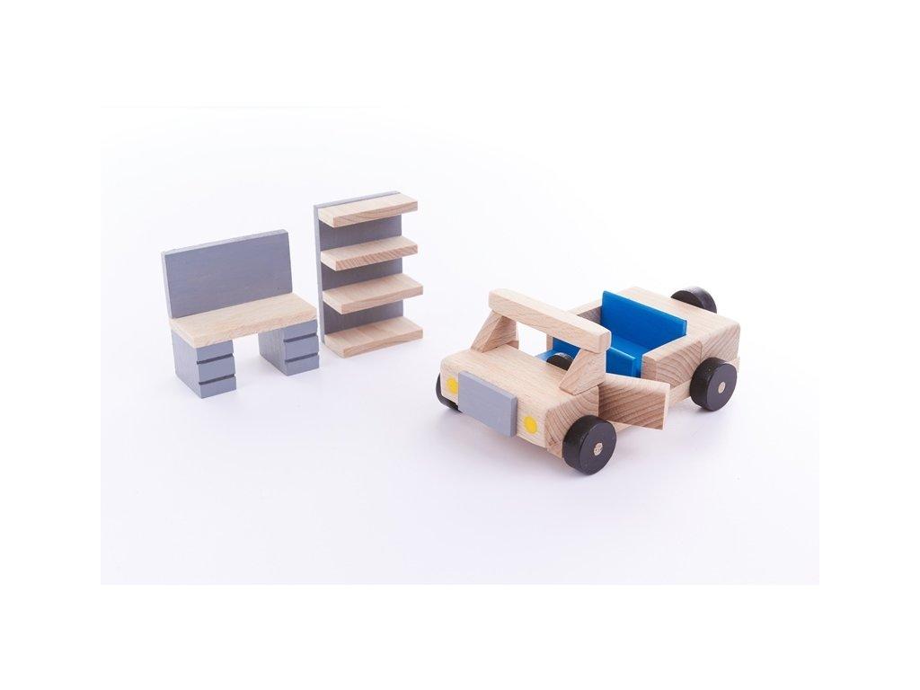Stavebnice BUKO vybavení garáže s autem