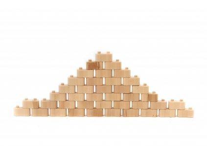 Dřevěná stavebnice GODI ze 40 dílů