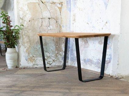 Dubový pracovní stůl ALBERT s šikmou kovovou podnoží
