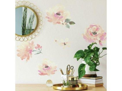 Samolepky na stěnu KVĚTY akvarelové