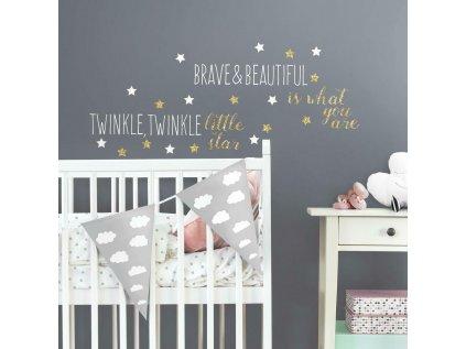 Samolepící nápis na stěnu LITTLE STAR
