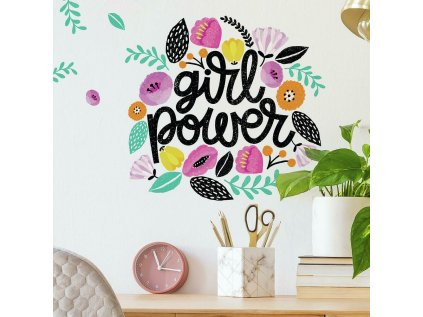 Barevné samolepky na zeď GIRL POWER