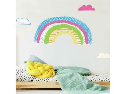 Samolepky na stěnu DUHA barevná