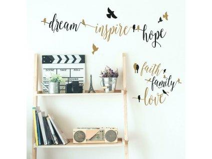 Inspirativní nalepovací nápis na zeď HOPE