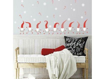 Samolepky na stěnu s vánočním motivem TRPASLÍCI