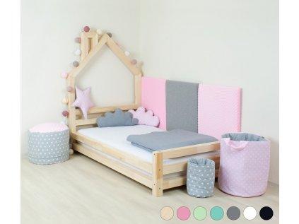 Dětská postel domeček Wally 90x200 cm