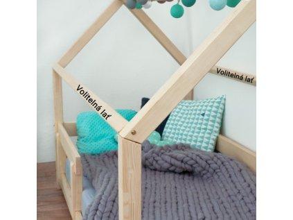 Dětská postel domeček TERY s bočnicí