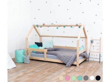 Dětská postel domeček Tery s bočnicí 120x190 cm