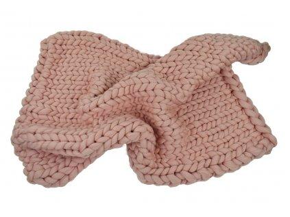 Chunky blanket - Gigantická ručně pletená deka z australské Merino vlny