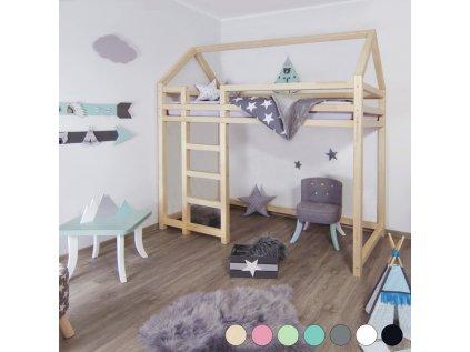 Vyvýšená postel Nesty 90x190 cm