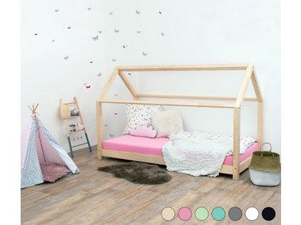 Dětská postel domeček Tery bez bočnice 140x190 cm