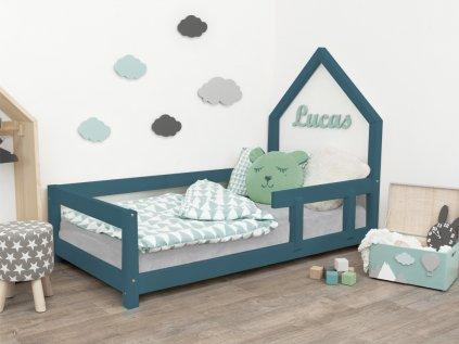 Dětská postel domeček POPPI s bočnicí