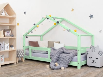 Dětská postel Lucky 120x160 cm s bočnicí - všechny barvy