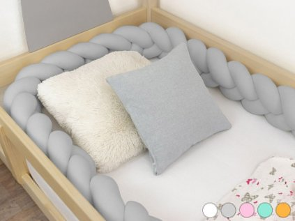 7313 9 hand stew children s bed bumper in shape of braid