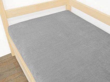Prostěradlo Mikroplyš 80x180 cm šedé
