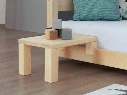 Noční stolek k laťkovým postelím Nanoc přírodní