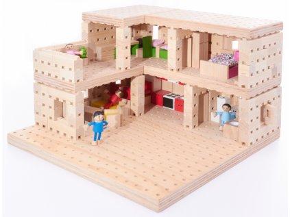 Stavebnice BUKO patrový dům ze 302 dílů