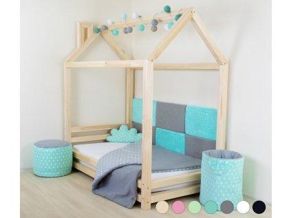 Dětská postel domeček Happy 120x200 cm