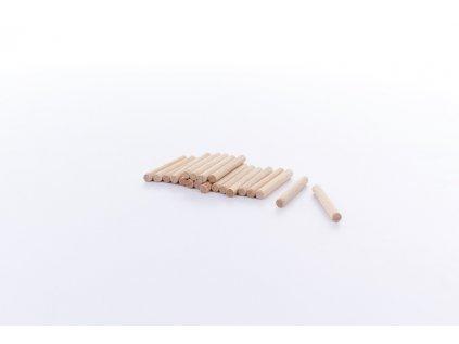 20 ks upevňovacích kolíků o výšce 4,5 cm ke stavebnici BUKO