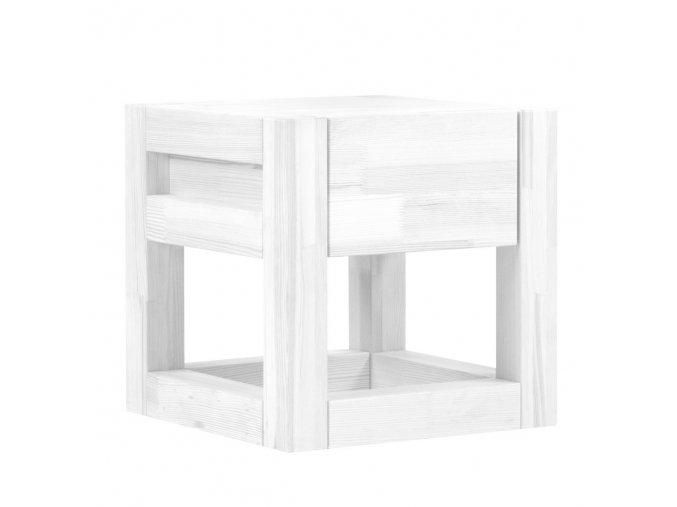 Noční Stolek Cube bílý