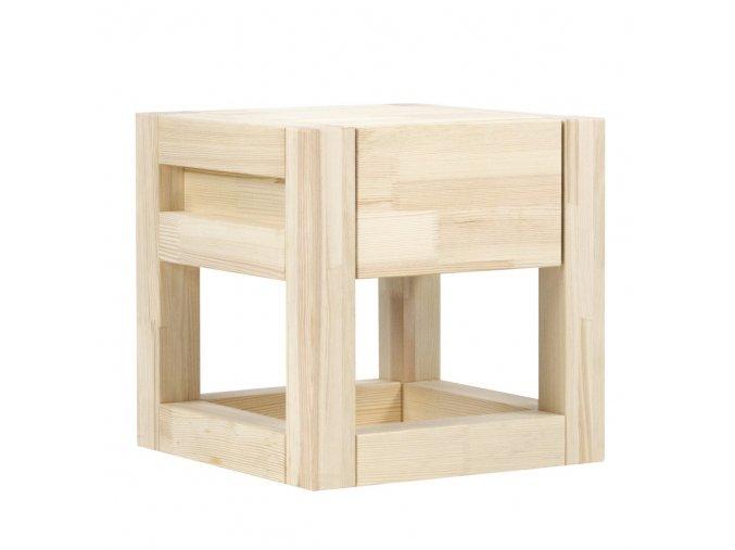 Noční Stolek Cube přírodní