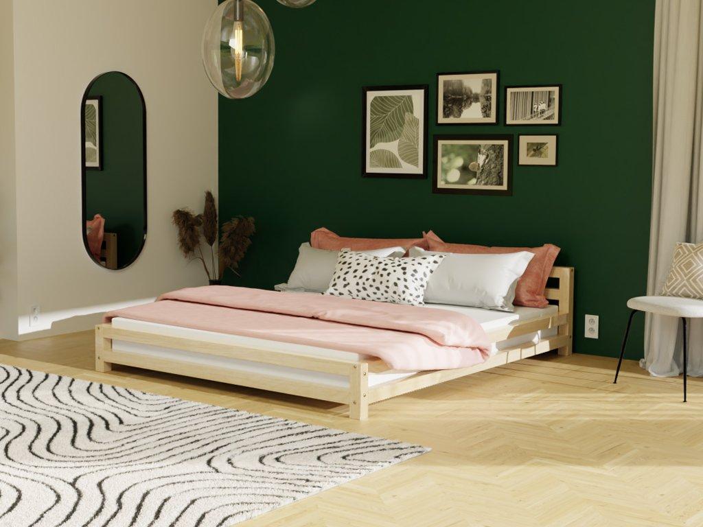 MODERN kétszemélyes ágy fából