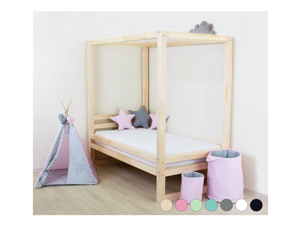 BALDEE egyszemélyes ágy baldachinnal