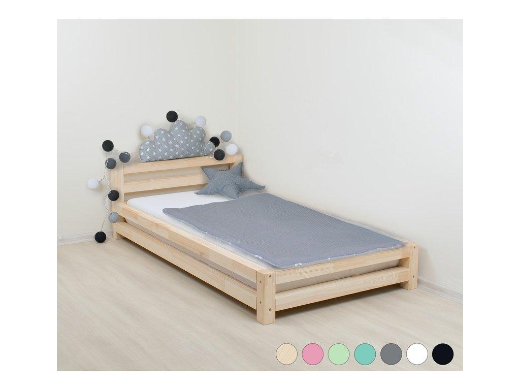 MODERN egyszemélyes ágy fából