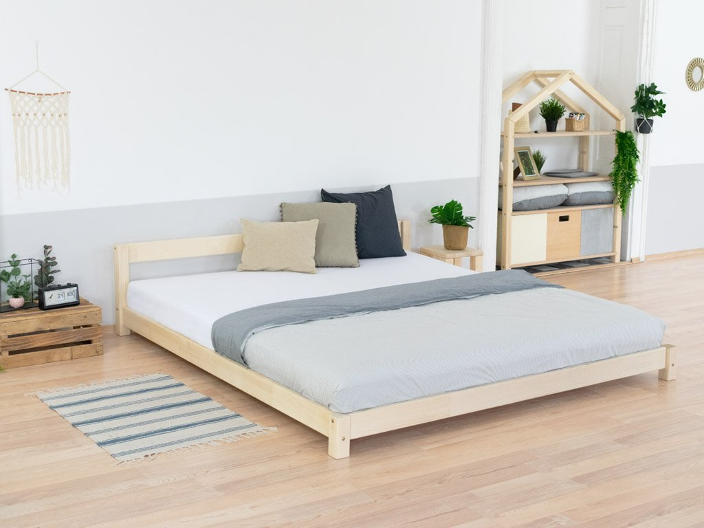 Wooden Double Bed in Scandi Style COMFY Natural