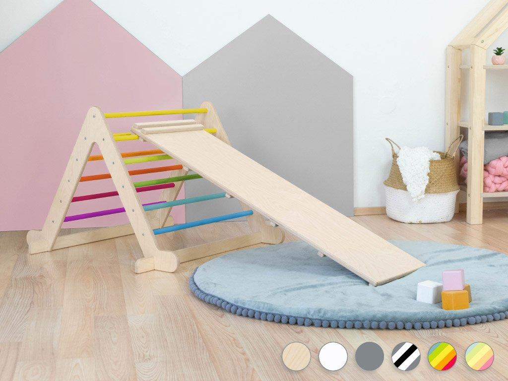 Gyermek Pikler háromszög PIKY híddal
